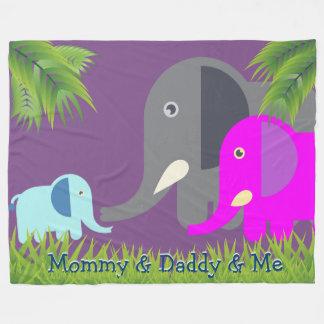 Manta Polar Padres del elefante el | del bebé felices y