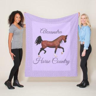 Manta Polar País púrpura del caballo del caballo árabe de la
