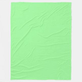 Manta Polar Palidezca - ponga verde el color sólido en colores