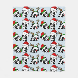 Manta Polar Pandas del navidad