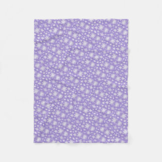 Manta Polar Pequeñas flores blancas con púrpura