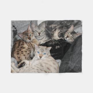 Manta Polar Pila del gatito del gato de Bengala