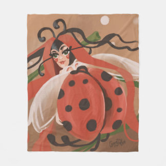 Manta Polar Pintura de la fantasía de la mariquita - mariquita