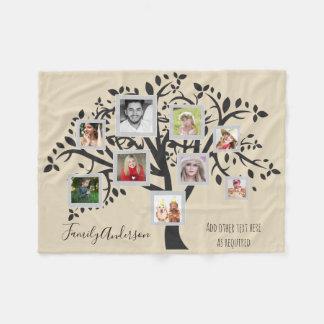 Manta Polar Plantilla del árbol de familia del collage de la