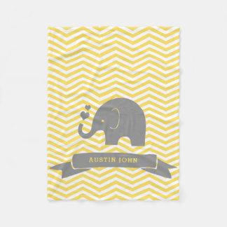 Manta Polar Poco gris personalizado cacahuete del amarillo del