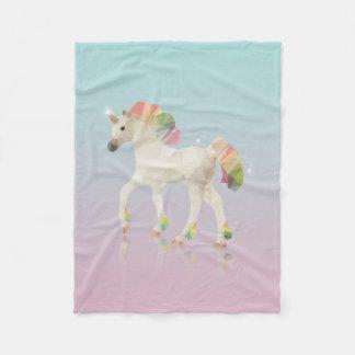 Manta Polar Polígono colorido del unicornio del arco iris -