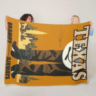 Manta Polar Poster fresco y de moda del viaje de Tejas del