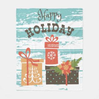 Manta Polar Presentes felices del día de fiesta del navidad