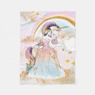 Manta Polar Princesa Blanket del unicornio
