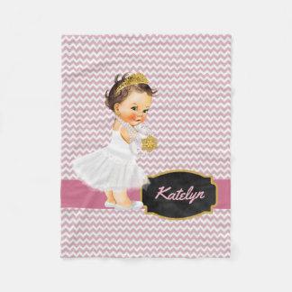 Manta Polar Princesa rosada personalizada Nursery del oro el |