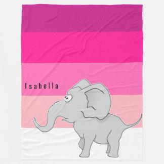 Manta Polar Profundos calientes sorprendida del elefante