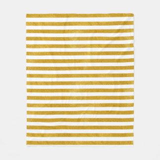 Manta Polar Raya elegante del oro - personalizado su color