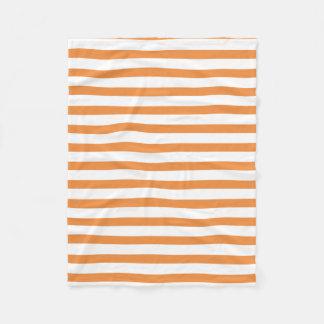 Manta Polar Raya horizontal del naranja y blanca