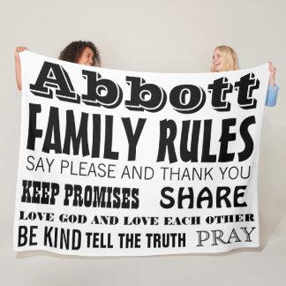 Manta Polar Reglas inspiradas de la familia de la vida de la