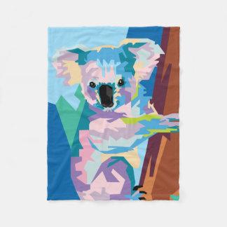 Manta Polar Retrato colorido de la koala del arte pop