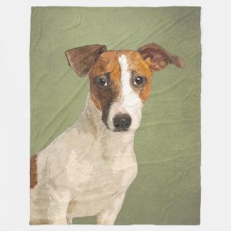 Manta Polar Retrato del mascota de Terrier de los párrocos de