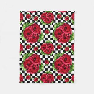 Manta Polar Rockabilly floral del amor del ramo de los rosas