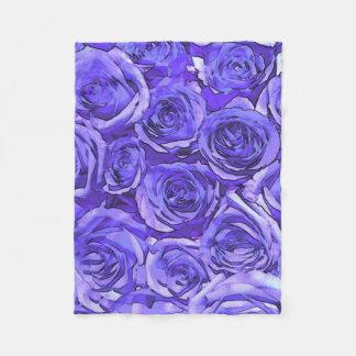 Manta Polar rosas violetas