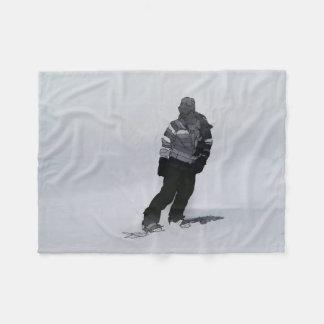 Manta Polar Silencio del invierno - Snowboarder