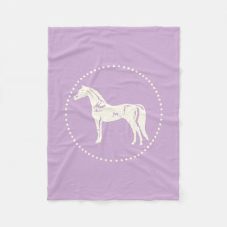 Manta Polar Silueta árabe del caballo