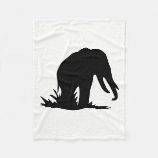 Manta Polar Silueta del elefante