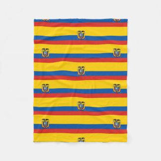 Manta Polar Símbolo de la bandera de país de Ecuador de largo