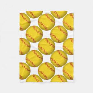Manta Polar Softball amarillo