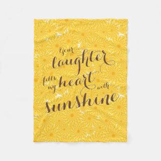 Manta Polar su risa llena mi corazón de la sol floral