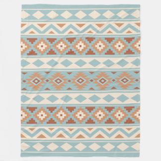 Manta Polar Terracota poner crema azul azteca de Ptn IIIb de