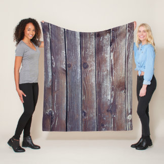 Manta Polar Textura de madera