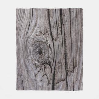 Manta Polar Textura de madera del nudo de madera