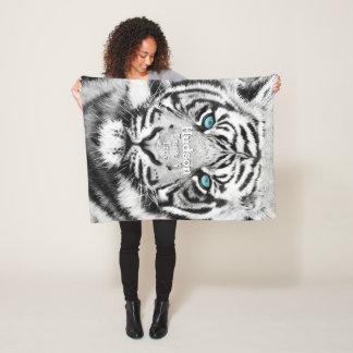 Manta Polar Tigre blanco personalizado del tigre de Bengala