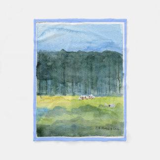 Manta Polar Tiro pastoral del paño grueso y suave del paisaje