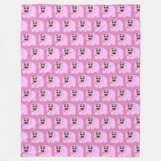 Manta Polar TP guarro rosado