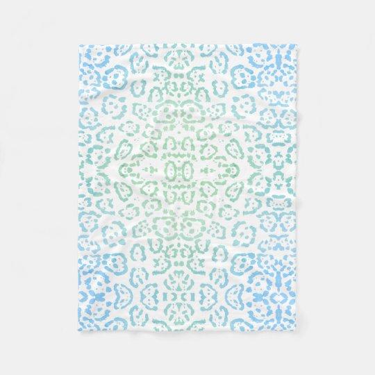 Manta Polar Verde en colores pastel del estampado de animales