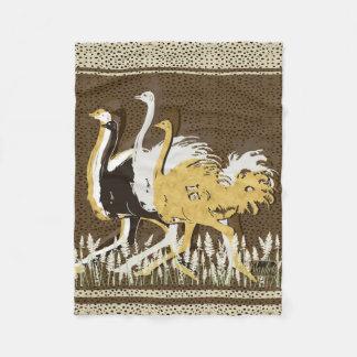 Manta punteada avestruces del paño grueso y suave