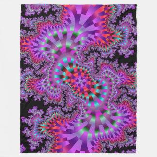 Manta púrpura del paño grueso y suave de la