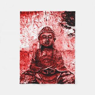 Manta roja del arte del Grunge de Buda
