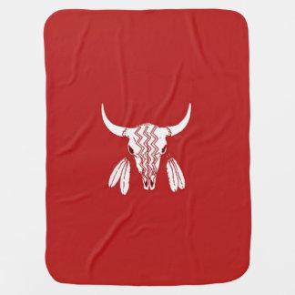 Manta roja del bebé del búfalo de la danza de