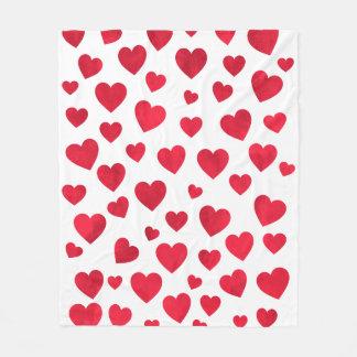 Manta roja del paño grueso y suave del corazón