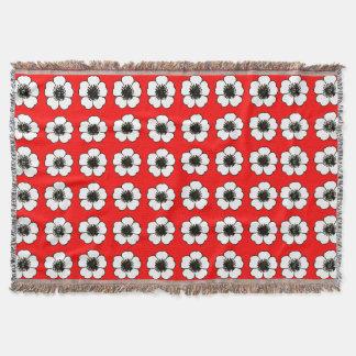 Manta Rojo-Cabaña-Flores--Manta-Unisex