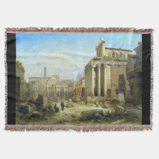 Manta romana del tiro de Italia Roma del foro de
