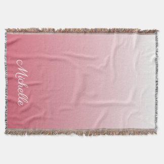 Manta Rosa de color salmón personalizado del ombre de la
