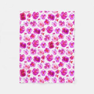 Manta rosada del arte de la acuarela de la flor