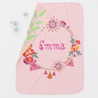 Manta rosada del bebé del jardín mantitas para bebé