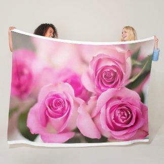 Manta rosada del paño grueso y suave de los rosas