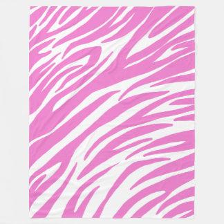 Manta rosada del paño grueso y suave del estampado manta de forro polar