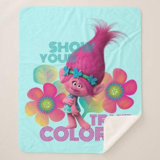 Manta Sherpa Amapola de los duendes el | - muestre sus colores