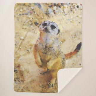 Manta Sherpa Animales polivinílicos - Meerkat