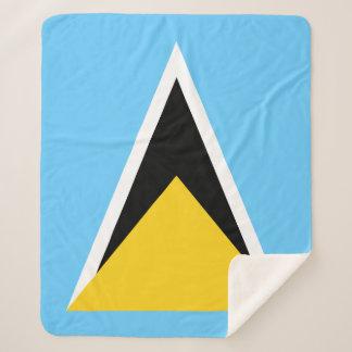 Manta Sherpa Bandera de la Santa Lucía